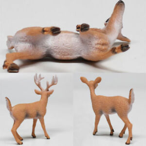 1 Pc Xmas Reindeer White-tailed Christmas Doll Deer Figure ...