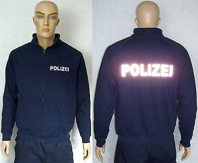 2 Text-varianten,s Bis Xxl Rohstoffe Sind Ohne EinschräNkung VerfüGbar Marineblau Oder Schwarz Gerade Polizei Sweatjacke Mit Zipp