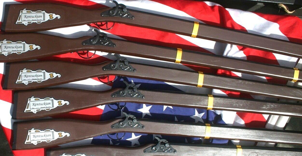 Marching Guns X-tra Long Rifle BOXof6 American Revolution Civil War Parade 20002