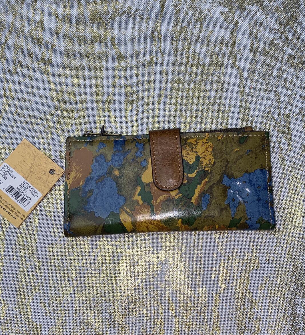 Patricia Nash Wildflower P419365 Nazari Leather Wallet NWT - Beautiful!! NEW