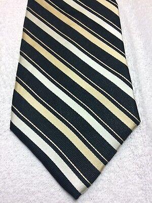Angemessen Van Heusen Herren Krawatte Schwarz Mit Streifen Beige 4 X 58 Entlastung Von Hitze Und Sonnenstich