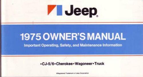 Bishko OEM Maintenance Owner/'s Manual Bound for Jeep All Models 1975