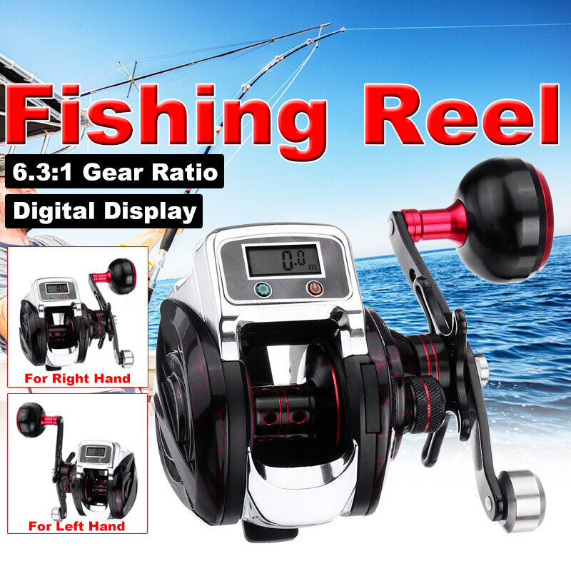 14 + 1 BB 6.3  giro de  mano 1 Cocherete de Pesca Rodamiento Cocherete De Metal Pantalla Digital  los nuevos estilos calientes