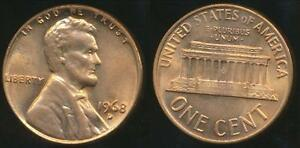 United-States-1968-D-One-Cent-Lincoln-Memorial-Uncirculated