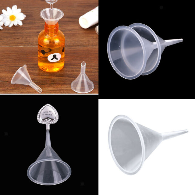 2Pcs Tiny Metal Pastic Funnel for Essential Oil Bottles Cremation Funnel