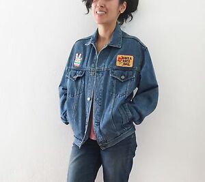 Vintage Hippie Jean Jacket Patch Work Women S Extra Small Ebay