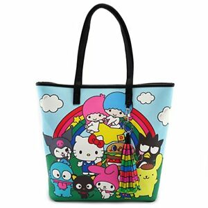 779fac671e Image is loading Loungefly-Hello-Kitty-Sanrio-Character-Rainbow-Tote-Bag-