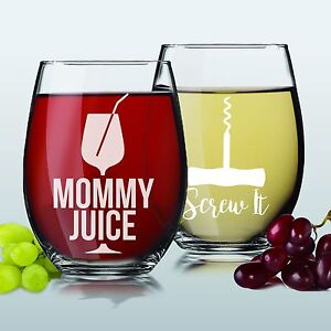 Funny Engraved Wine Glasses Wine Glass Gifts For Mom Women Her