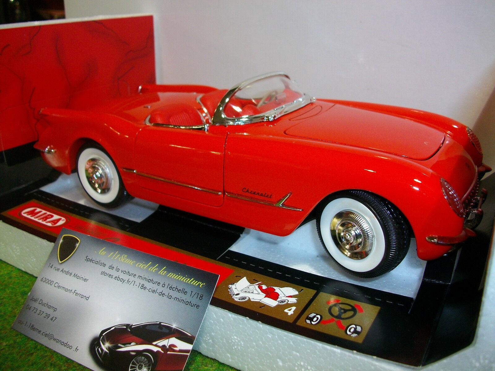 Para tu estilo de juego a los precios más baratos. CHEVROLET CORVETTE Cabriolet 1954 rg 1 18 MIRA 6198 6198 6198 voiture miniature collection  Más asequible