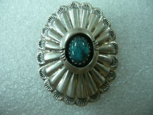E. Kee, Turquoise Pin, Navajo Native American, Ste