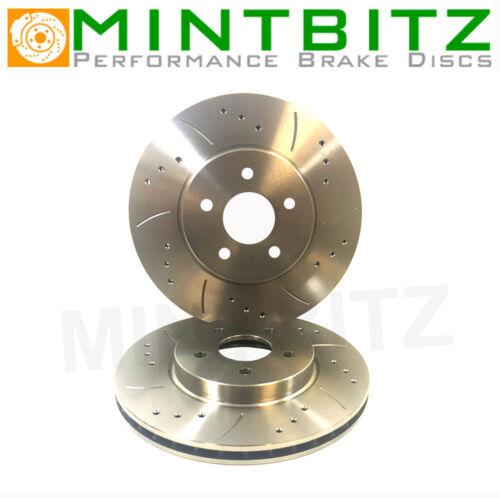Drilled /& Grooved Rear Brake Discs HYUNDAI Trajet 00