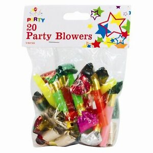 100-x-PARTY-BLOWERS-LOOT-BAG-FILLER-NOISE-TOY-ASSORTED-FOIL-COLOURS-CHRISTMAS