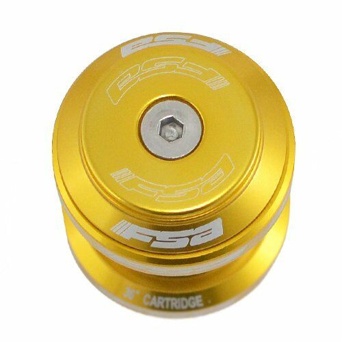 "Fast Shipping FSA Orbit MX 1-1//8/"" Threadless MTB Road Headset with Top Cap Gold"
