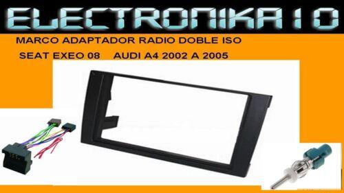 Marco de montaje radio AudiA4 2002 A 2005 Seat Exeo 2008/> 2Din conexiones