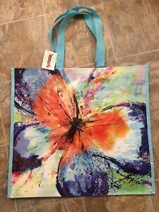 NEW TJ Maxx Large Shopping Tote Bag SUGAR SKULLS HALLOWEEN Reusable Eco Friendly
