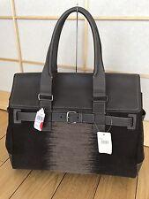 Ferragamo Men's Large Principe Bag Messenger Briefcase Wool Calf Leather Italy