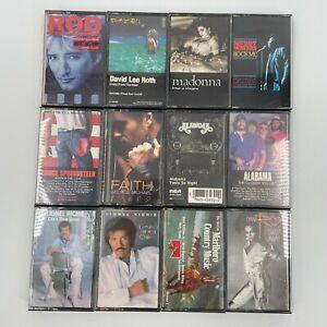 Cassette Tape Lot (12) - 80's Rock Pop Springsteen Madonna Alabama Lionel Richie