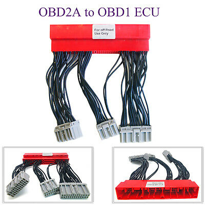 OBD2A to OBD1 Conversion ECU Jumpers Harness AdapterFor Honda Civic Accord Acura