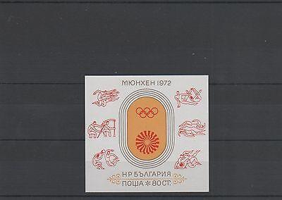 Bulgarien Block 37 Postfrisch ** Mnh Olympics Munich Olympiade