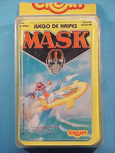 VINTAGE 1988 89 M.A.S.K. PLAYING CARDS SET CASED CROMY SilberINA  3724 MASK