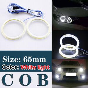 2x 95MM Green COB LED Fog Lamp Car Auto Angel Eyes Halo Ring Lights Headlights