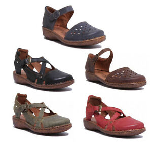 best loved 36a01 4f804 Details about Josef Seibel Rosalie 13 Womens Leather Black Cross Strap  Sandals UK Size 3 - 8