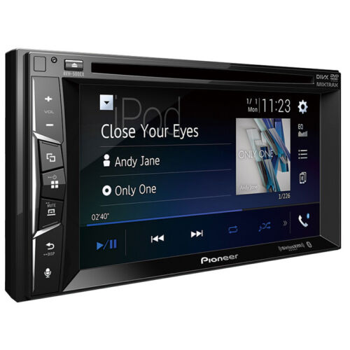 AVH-500EX Double Din Car Stereo Night Vision Car License Plate Camera Silver