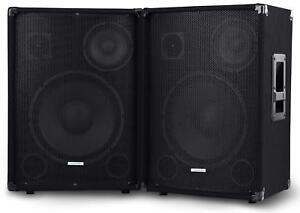 PAAR-DJ-PA-3-WEGE-LAUTSPRECHER-BOX-SET-BUHNEN-MONITOR-12-034-30CM-SUBWOOFER-1200W