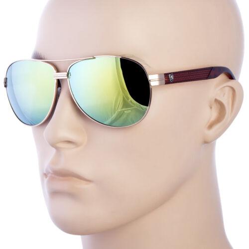 Classic Retro Vintage Mirror Men Fashion Aviator Sunglasses Racing Sport Glasses