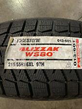 4 New 215 55 16 Bridgestone Blizzak Ws80 Snow Tires