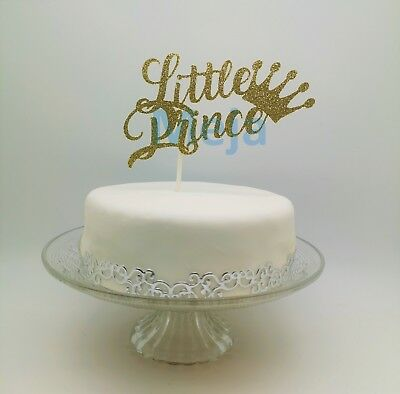 Cool Happy Birthday Cake Pick Topper Decoration Little Prince Gold New Funny Birthday Cards Online Overcheapnameinfo