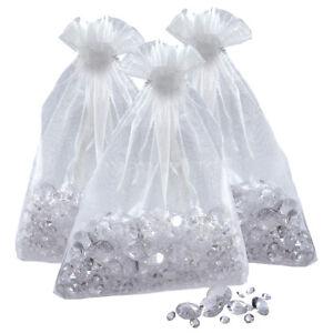 3-Packs-Transparent-Table-de-Mariage-Diamants-en-Vrac-Fete-Nuages-Cristaux