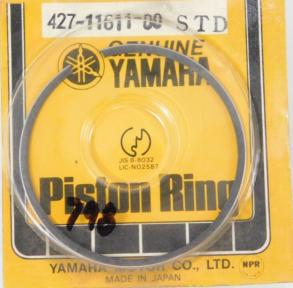427-11611-00 NOS Yamaha STD Piston Ring 1974 MX100A 1975 MX100B W6960