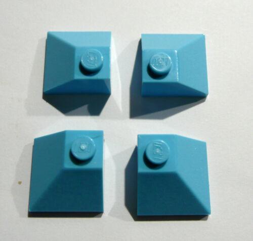4 x LEGO® 3045 Friends Dachstein Aussenecken 2x2 in türkis Neuware.