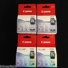 2 x PG512 & 2 x CL513 Canon High Capacity Original OEM Inkjet Cartridges