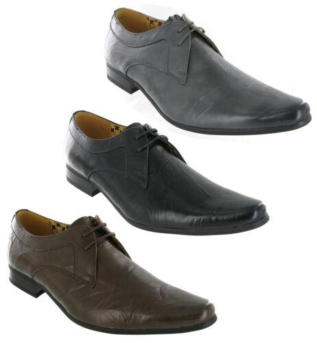 Front london rossi plissées en cuir à lacets formel smart chaussure homme UK7-12