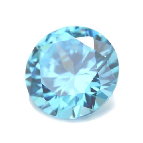 3.75 mm redondo Natural Sky Blue Topaz Joya Piedra Preciosa