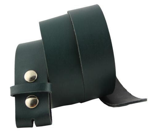 130cm Gürtel Leder Wechselgürtel Basic Grün 85cm