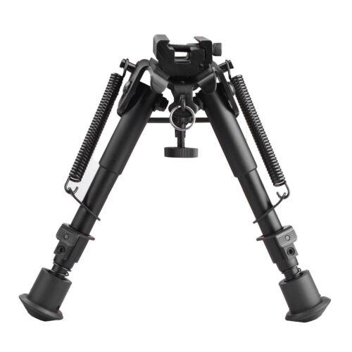 "US Adjustable 6/""-9/"" Spring Return legs Sniper Bipod for Rifle Hunting Aluminum"