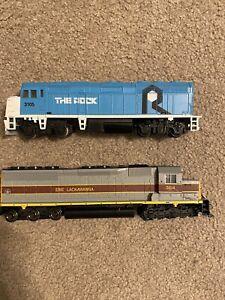 2 Locomotive Trains! Bachmann Erie Lackawanna 3614, Life Like Rock Island 3105