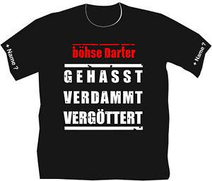 Böhse Darter Dartshirt Dart T-Shirt Hemden Bekleidung Motiv Darts Flights 93