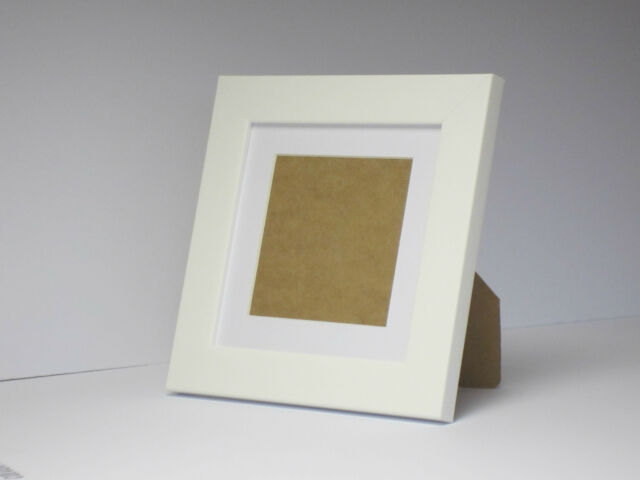 White 7x7 Square Photo Frame Mount 4.75x 4.75 Standing | eBay