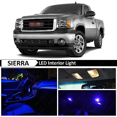 14x Blue Interior LED Lights Package Kit for 2007-2013 GMC Sierra