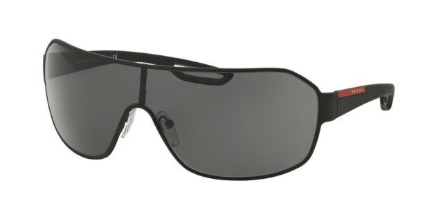d1fb9f7490 PRADA PR PS 52qs Dg0-1a1 Black Rubber Frame Dark Grey Lens Sunglasses