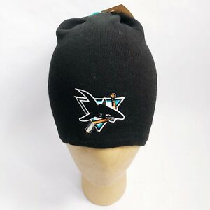 vintage-san-jose-sharks-slouchy-beanie-hat-adult-OSFA-deadstock-NWT-made-in-USA
