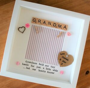 Image Is Loading CHRISTMAS Personalised Scrabble Frame Mum Birthday Present Gift