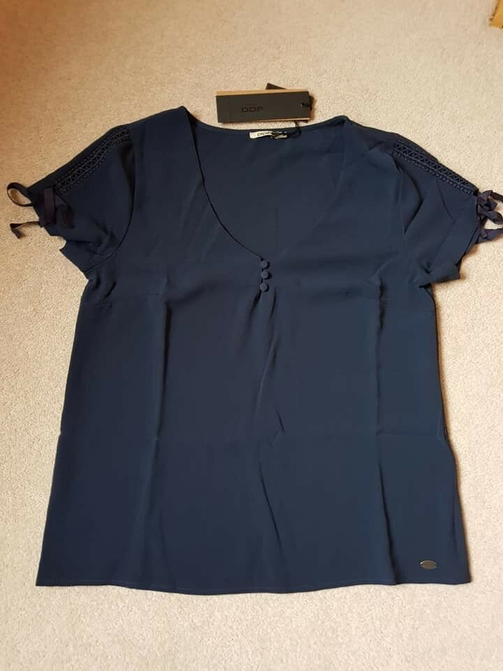 BNWT DDP Women's Blouse Top in bluee Size S RRP