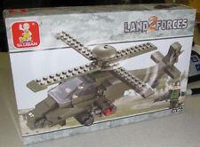 Sluban Building Blocks Land Forces 2 Hind Helicopter 199 PC Set New Legos
