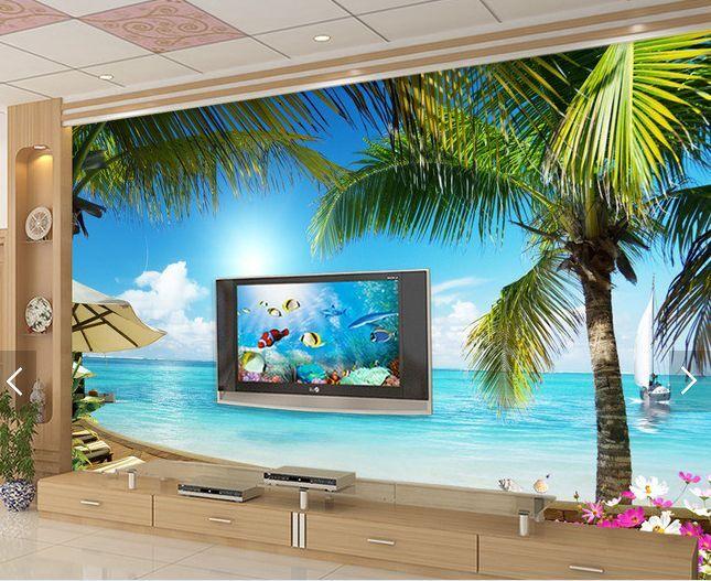 3D oceano fuori Parete Murale Foto Carta da parati immagine sfondo muro stampa