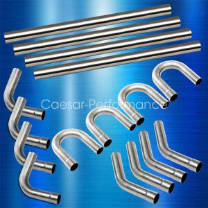 "3"" INCH Custom Exhaust Steel Tubing Mandrel Straight U Bend Pipe Tube Piping Kit"
